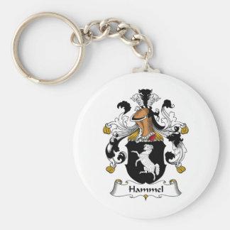 Escudo de la familia de Hammel Llavero Redondo Tipo Pin