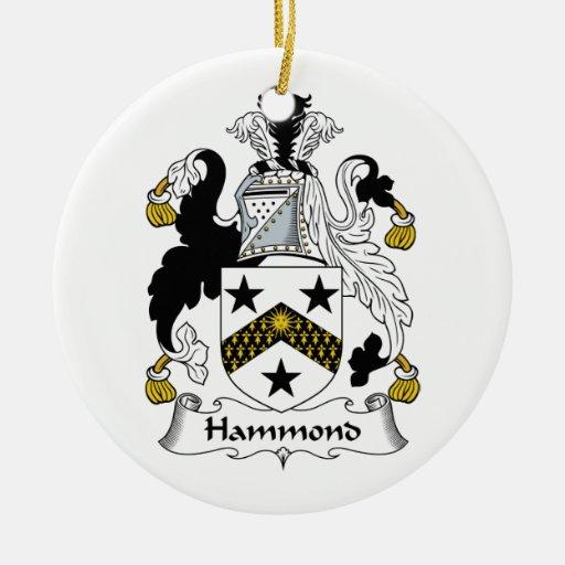 Escudo de la familia de Hammond Adorno Redondo De Cerámica
