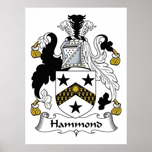 Escudo de la familia de Hammond Impresiones
