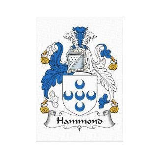 Escudo de la familia de Hammond Impresiones De Lienzo