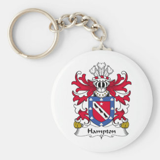 Escudo de la familia de Hampton Llavero Redondo Tipo Pin