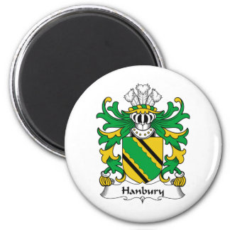 Escudo de la familia de Hanbury Imán Redondo 5 Cm