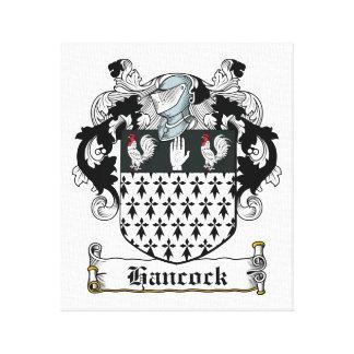 Escudo de la familia de Hancock Impresión En Lienzo Estirada