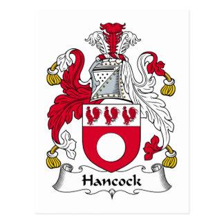 Escudo de la familia de Hancock Tarjetas Postales