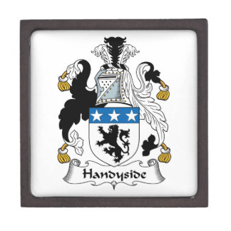 Escudo de la familia de Handyside Cajas De Recuerdo De Calidad
