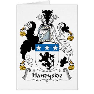 Escudo de la familia de Handyside Felicitación