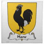 Escudo de la familia de Hane Servilletas