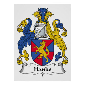 Escudo de la familia de Hanke Impresiones