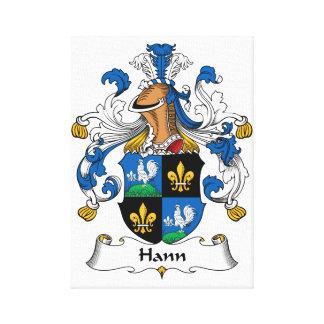 Escudo de la familia de Hann Impresión En Lienzo