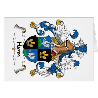 Escudo de la familia de Hann Tarjeta De Felicitación