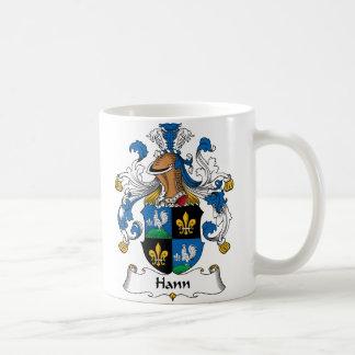 Escudo de la familia de Hann Taza De Café