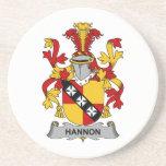 Escudo de la familia de Hannon Posavasos Personalizados