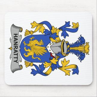 Escudo de la familia de Hanratty Alfombrillas De Raton