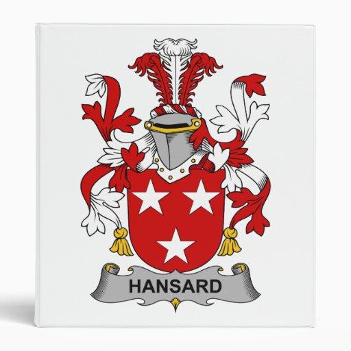 """Escudo de la familia de Hansard Carpeta 1"""""""