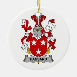 Escudo de la familia de Hansard Ornamento Para Arbol De Navidad