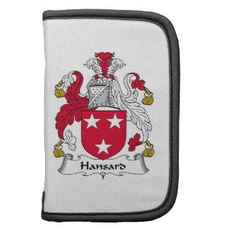 Escudo de la familia de Hansard Organizador