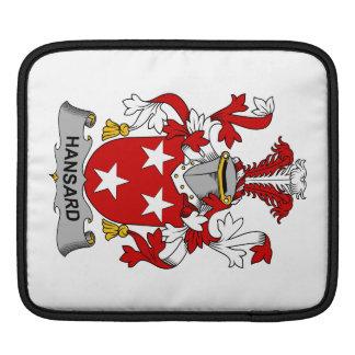 Escudo de la familia de Hansard Mangas De iPad