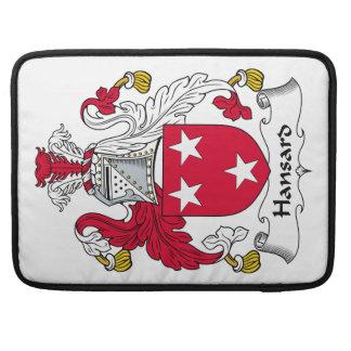 Escudo de la familia de Hansard Fundas Para Macbook Pro