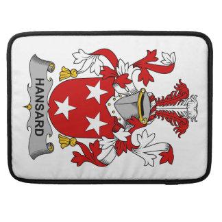 Escudo de la familia de Hansard Funda Macbook Pro