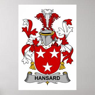 Escudo de la familia de Hansard Posters
