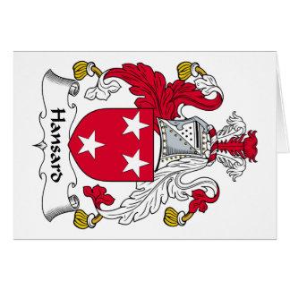 Escudo de la familia de Hansard Tarjeton