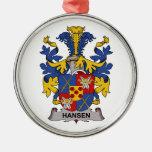 Escudo de la familia de Hansen Adorno De Navidad