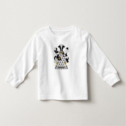 Escudo de la familia de Hanson Tee Shirt