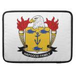 Escudo de la familia de Hapgood Funda Para Macbooks