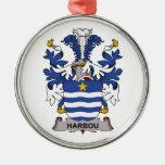 Escudo de la familia de Harbou Ornamento De Navidad