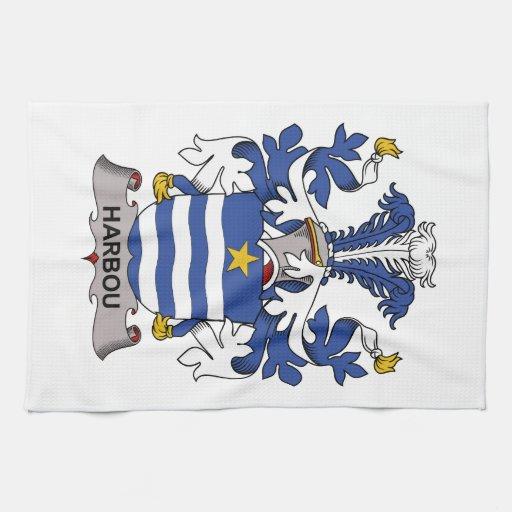 Escudo de la familia de Harbou Toalla De Mano