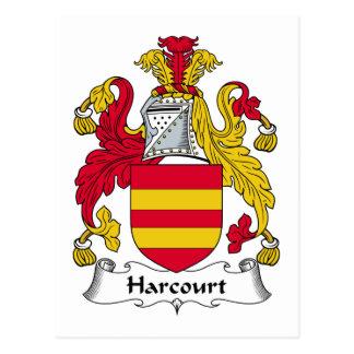 Escudo de la familia de Harcourt Postales