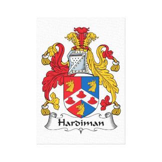 Escudo de la familia de Hardiman Lona Envuelta Para Galerías