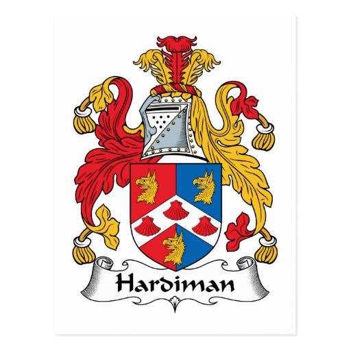 Escudo de la familia de Hardiman Postales
