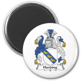 Escudo de la familia de Harding Imán Redondo 5 Cm