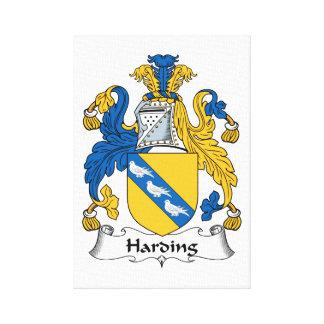 Escudo de la familia de Harding Impresiones De Lienzo