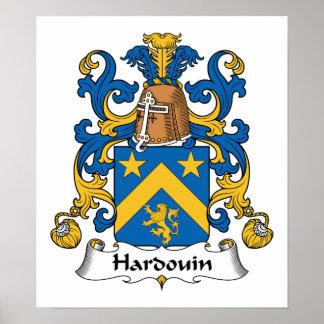 Escudo de la familia de Hardouin Póster