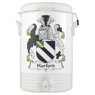 Escudo de la familia de Harford Refrigerador De Bebida Igloo