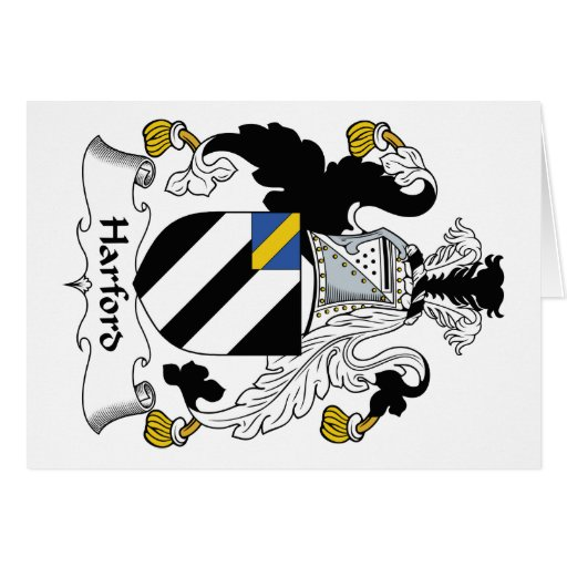 Escudo de la familia de Harford Felicitaciones