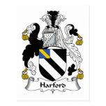Escudo de la familia de Harford Tarjeta Postal