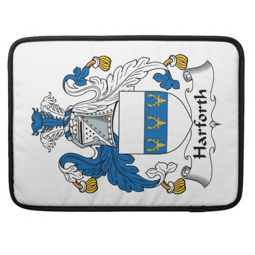 Escudo de la familia de Harforth Fundas Macbook Pro