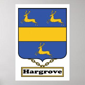 Escudo de la familia de Hargrove Póster