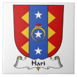 Escudo de la familia de Hari Azulejo Cerámica