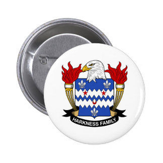 Escudo de la familia de Harkness Pin Redondo De 2 Pulgadas