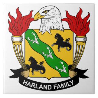 Escudo de la familia de Harland Teja Cerámica