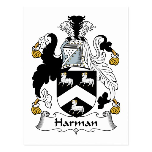 Escudo de la familia de Harman Tarjetas Postales