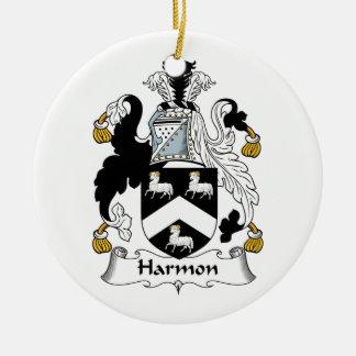 Escudo de la familia de Harmon Ornamentos Para Reyes Magos
