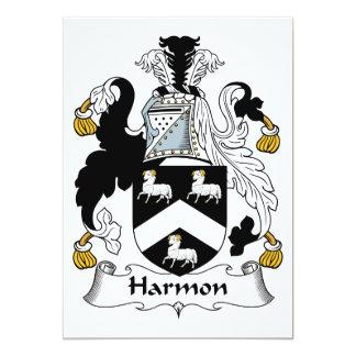 """Escudo de la familia de Harmon Invitación 5"""" X 7"""""""
