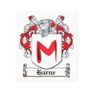 Escudo de la familia de Harne Impresión En Lona Estirada
