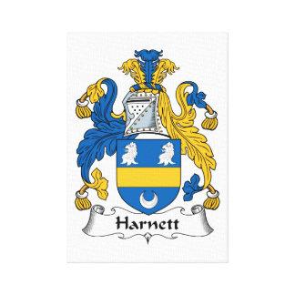 Escudo de la familia de Harnett Impresión En Lona