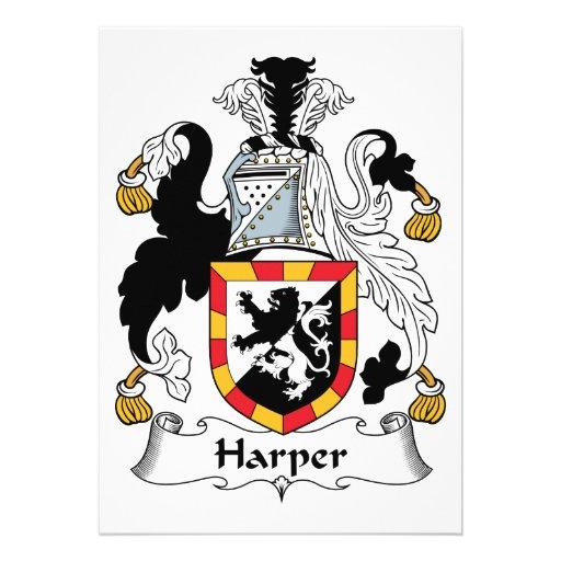 Escudo de la familia de Harper Comunicados Personalizados